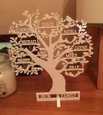 family tree with set of 6 hanging frames for the home