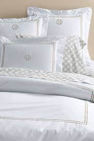 Duvet Covers Restoration Hardware Italian Hotel Satin Stitch Bedding White Collection Bed Linens