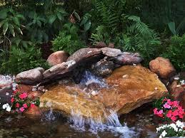 beautiful and relaxing garden waterfalls ideas with nice backyard