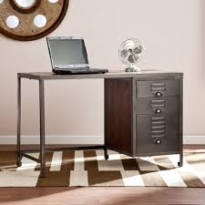 Home Office Desk With Storage by Walker Edison Furniture Company Aqua Blue Desk With Storage