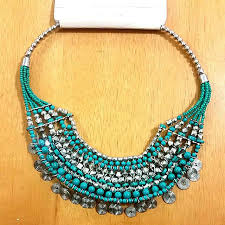 yellow turquoise necklace images 4 quot lovisa quot turquoise necklace women 39 s fashion on carousell jpg