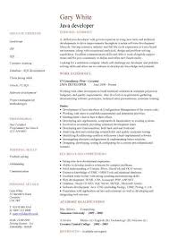 Sample Resume For Software Engineer With Experience In Java by Download Java Developer Resume Sample Haadyaooverbayresort Com