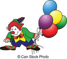 clown baloons stock illustration of flying clown with balloons isolated