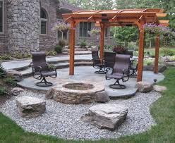 luxury fire pit ideas patio landscape design in sammamish sublime