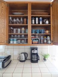 Kitchen Cabinet Magazine Light Brown Wooden Cabinet With Two Rows Also Four Shelves