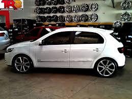 Popular VW Gol G5 rebaixado, rodas aro 17