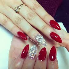 best 10 red stiletto nails ideas on pinterest almond nails red