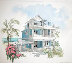 coastal house floor plans cottage house plans waterfront plan lakefront sloping lot small