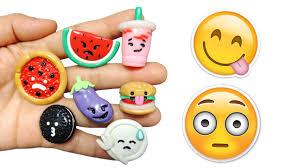 diy emoji food polymer clay tutorial youtube