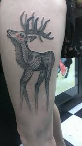 my new thigh piece elk done by darcy at devine street in columbia