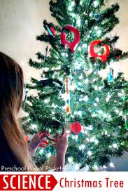 how to put lights on a christmas tree video science christmas tree preschool powol packets