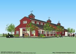Barn Plans Home Garden Plans B20h Large Horse Barn For 20 Horse Stall 20