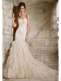 fitted wedding dresses mori 5369 tulle fitted to the hip wedding gown ivory