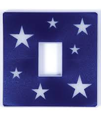 light switch covers amazon glow in the dark blue stars light switch cover amazon co uk
