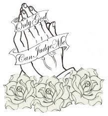 black praying with and roses design