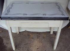 Vintage Red  White S Art Deco Hoosier Enameltop Kitchen - Vintage metal kitchen table