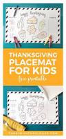 printable thanksgiving placemat kids fun ideas kids