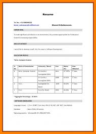 simple resume format for freshers documents 6 resume format for freshers bcom nurse homed