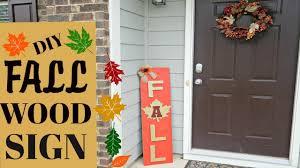 Outdoor Wood Decor Diy Fall Wood Decor Indoor Outdoor Home Decor 2017 Youtube