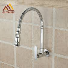 kitchen faucet wall mount free shipping chrome single handle kitchen faucet cold water