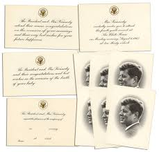 Religious Invitation Cards Lot Detail President John F Kennedy Collection Of White House