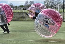 manchester zorb football dodgeball stag do