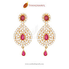 earing design gold ruby earring design ruby white and