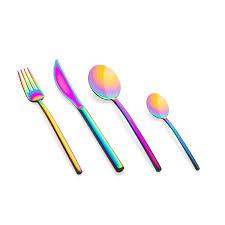 the luxury art mepra titanium due rainbow cutlery sets home bazar