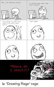 Meme Face Comics - me just derping around i m going to draw the table flip guy rage