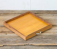 Serving Tray Ottoman by Reclaimed Wood Tray Colorful Wooden Ottoman Tray Large Square