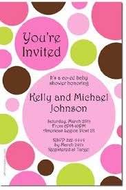 polka dot invitations polka dots baby shower invitations all colors jpg