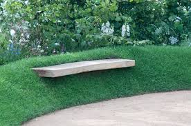 Creative Garden Decor Creative Garden Decor Ideas Bench Seating Area Concrete Slab Green