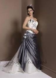 brautkleider zweifarbig zweifarbig corsage taft brautkleid hochzeitskleid ivory grau