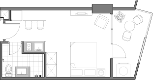 Floor Plan Of A Bedroom Unit Types U2013 Northstar Condominium Iron Wood Property Ventures Corp