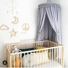 White Grey Curtains White Grey Pink Princess Canopy Bed Curtains Hanging Dome Diy Play