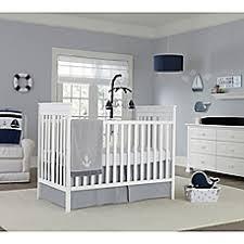 nautica kids mix u0026 match crib bedding in grey white buybuy baby