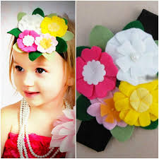 felt headbands flower bouquet felt headband
