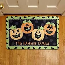 five favorite personalized halloween doormats for families