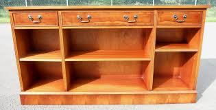 Narrow Wood Bookcase by Yew Wood Narrow Long Open Bookcase