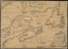 New France Map by A New Chart Of The Coast Of New England Nova Scotia New France
