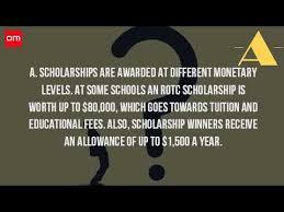 how many arotc scholarships are awarded each year youtube