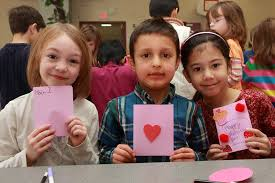 school valentines students at bridgewater s hamilton primary school make valentines