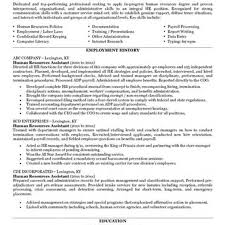 Human Resource Sample Resume by Sample Resume Hr Assistant Free Resume Example And Writing Download