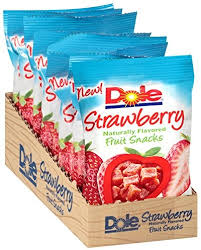 dole fruit snacks dole fruit snacks strawberry 3 ounce pack of 8 best price