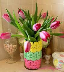 peeps decorations easter peeps floral arrangement hometalk