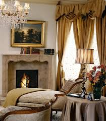 Curtain Place Fire Place Mantel Living Room Traditional With White Gold Curtain