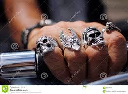 skull finger rings images Skull rings on hand stock photo image of silver bike 65518498 jpg