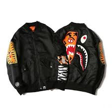 buy cheap bape shark head tiger head black hoodie for sale online