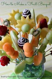 how to make a fruit basket arrangement how to make a fruit bouquet food recipes and snacks