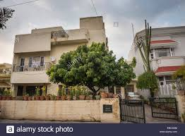 1950s Home Spacious 1950s Homes In Chandigarh Punjab India Stock Photo